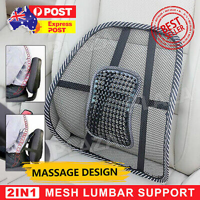 AU12.95 • Buy 2x Mesh Lumbar Back Support Posture Corrector Office Chair Car Seat Home Cushion