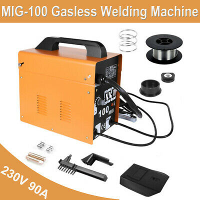MIG-100 Gasless Welding Machine Flux Core Wire Welders Auto Feed Welder Kit UK • 79.95£