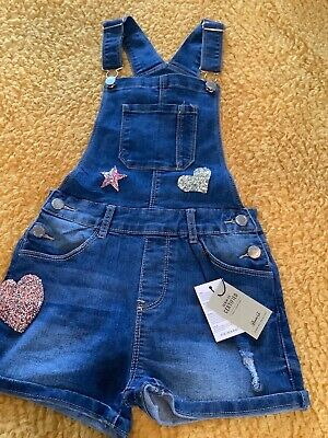 Primark Girls Denim Dungaree Age 9-10 • 8.50£