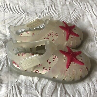 Igor Toddler Clear With Pink Starfish Jellies Sandals   Size EUR 24/UK 8 Infant • 2£