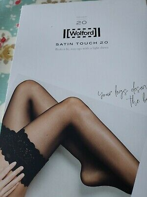 Wolford Satin Touch 20 Stay Ups, Large, Gobi/tan • 5.70£