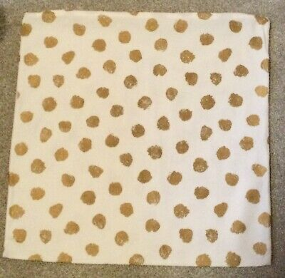IKEA Skaggort Cushion Cover, White & Gold, Zip Up, 50x50cm, Cover Only • 2.50£