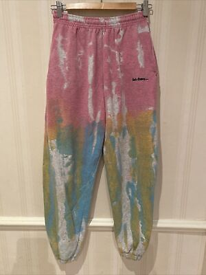 Urban Outfitters Iets Frans Joggers Tracksuit Bottoms Tie-Dye Small • 27£