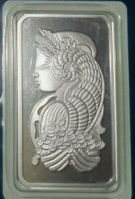 Lady Fortuna Pamp Suisse 1oz 999 Fine Silver Ingot Bar In Original Packet.  • 59£