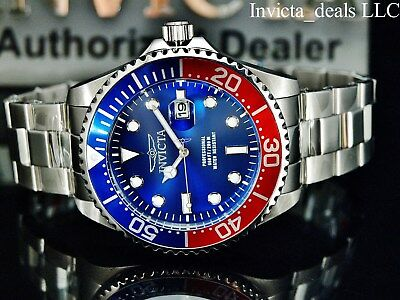 $64.99 • Buy Invicta Mens 47mm GRAND DIVER Quartz BLUE DIAL Silver Tone Stainless Steel Watch