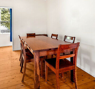 AU999 • Buy Nicholas Dattner Classic Solid Redwood Dining Table With 8 Chairs Over 5K New