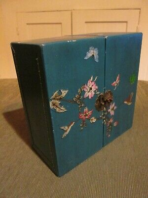 Deep Turquoise Chinese Style Fold Out Compartment Box Jewellery Box • 3.99£