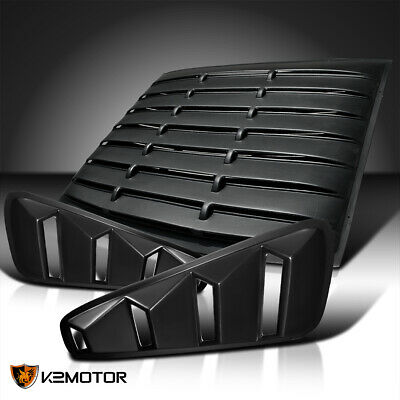 $179.38 • Buy Fit 05-14 Mustang GT 2DR Coupe Black Side Vent+Rear Window Scoop Louver Cover