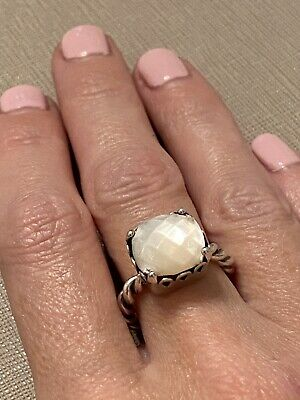Genuine New Pandora Silver Mother Of Pearl Ring 190828MP Size 52 • 50£