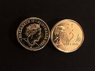 AU4.95 • Buy 1 X 2021  $2 Two Dollar Coin Aboriginal Elder JC New Effigy RAM UNC