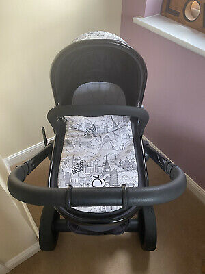 ICandy Peach World Limited Edition Pram And Carry Cot, Parasol, 2 Raincovers • 150£
