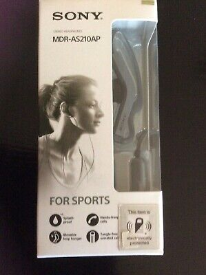 AU18 • Buy Sony Mdr-as21oap Stereo Headphones For Sports Brand New
