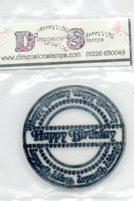 Dimension Clear Stamp HAPPY BIRTHDAY Cardmaking - New/Sealed • 1.99£