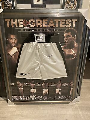 AU2450 • Buy Muhammad Ali Autograph Signed Boxing Trunks Shorts & Photos COA Proof Genuine