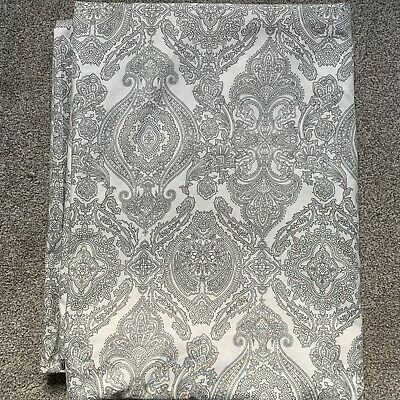 IKEA JATTEVALLMO/SKORPIL Paisley GREY/WHITE Single Duvet Cover 150x200cm • 12.95£