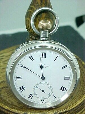 £199.95 • Buy Lovely Clean Antique Waltham Bond St Victorian Solid Silver Pocket Watch 1913
