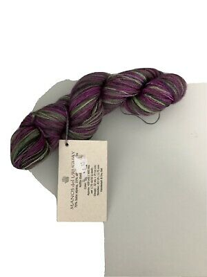 Manos Del Uruguay Lace Weight Skein Green And Purple • 4.50£