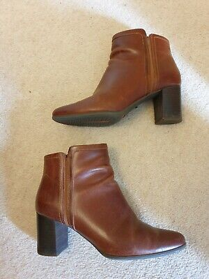 Rockport Trutech Tan Brown Leather Ankle Boots Size 6 39 • 6.40£