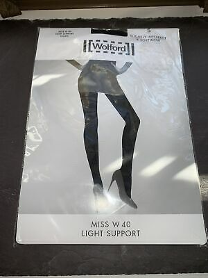 Wolford Miss W 40 Light Support Tights Color: Black Size: Small 11263 - 7005 • 5£