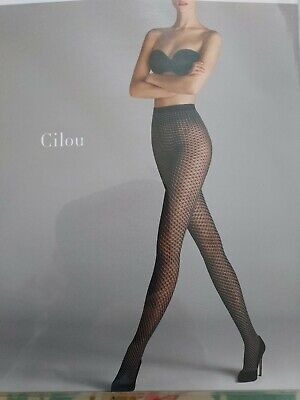 Wolford Cilou Tights In Gobi/white Size Small - New In Sealed Packet • 7£