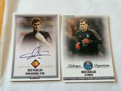 Iker Casillas Porto And Spain 2 Cards  • 1£