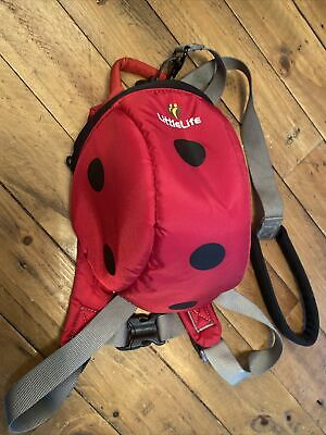 Little Life  Toddler Backpack, Ladybird, With Handle & Reins • 3£