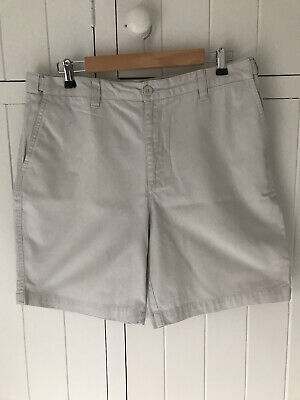 "Mens Shorts Size 36"" Waist Atlantic Bay Chino Style Off White Cotton • 5.99£"