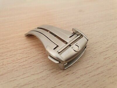 Genuine Omega Watch Strap 20mm Stainless Satin Steel Deployment Clasp 94522033 • 150£