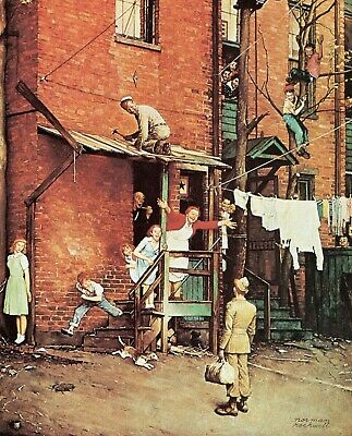 $ CDN9.97 • Buy Print - The Homecoming By Norman Rockwell