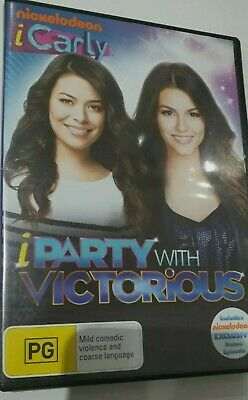 NICKELODEON ICARLY IPARTY WITH VICTORIOUS R4 DVD MIRANDA COSGROVE NATHAN KRESS • 30.50£