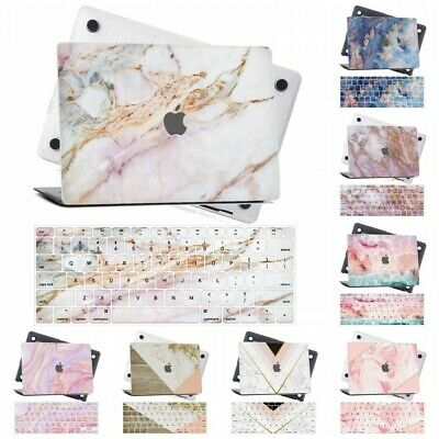 $14.86 • Buy Marble Rubberized Hard Cut Out Laptop Case Cover For Macbook Pro Air 11 13 15 16