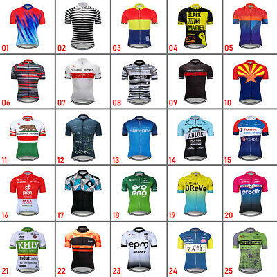 $17.69 • Buy 2021 Men's Cycling Short Sleeve Jersey Bicycle Bike Race Shirt Team Clothes Tops