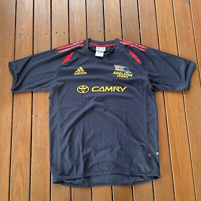 AU40 • Buy Adelaide Crows Size M Navy Training Top Adidas 3 Stripe Casual AFL