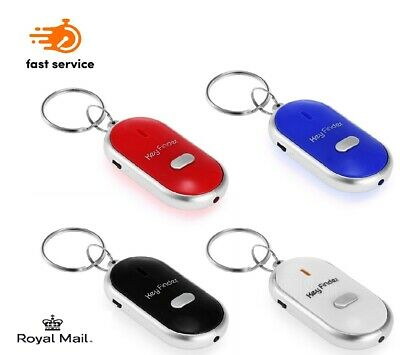 Whistle Lost Key Finder Beeping Locator Sound Control Flashing LED Sonic Torch • 2.30£