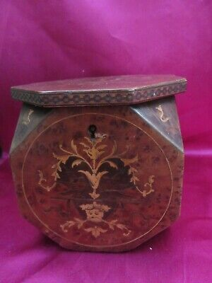 £179.99 • Buy Victorian Tea Caddy With Chinese/japanese Design - Octagonal Shape - Used Vgc