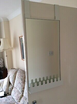 White Ikea Over Door Hanging Mirror.Hook Shelf.Very Good Clean Condition. • 5£