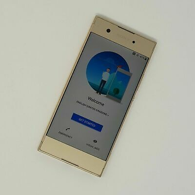 AU115.96 • Buy Sony Xperia XA1 5  4G - Smart Phone - Gold - Working Condition - Tesco Fast P&P