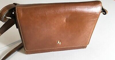 Ashwood Three Section Small Leather Shoulder Crossbody Leather Bag Brown/Tan • 8.99£