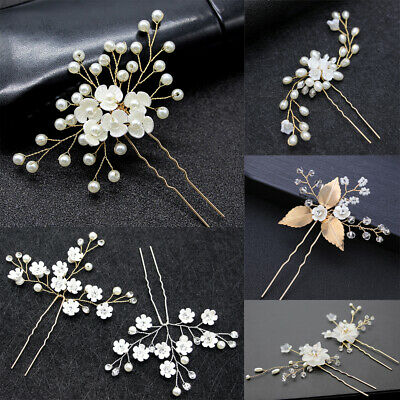 $ CDN3.32 • Buy Accessories Wedding Crystal Headpieces Hair Clips Women Hairpins Headwear