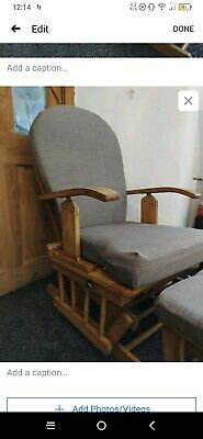 Large Wooden Nursing Rocking Chair • 50£