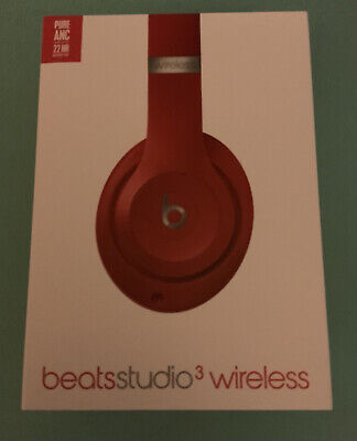 Beats By Dr. Dre Studio 3 Wireless Over-Ear Headphones - Red • 115£