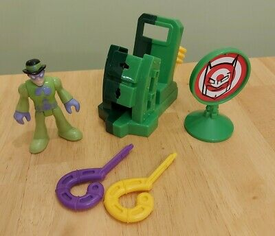 Imaginext DC Super Friends The Riddler + Launcher R5512 ~ Complete ~Discontinued • 19.99£