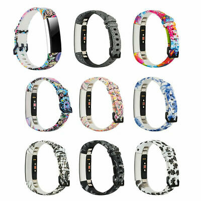 AU5.19 • Buy Fashion Replacement Strap Wristband Band Colour Pattern For Fitbit Alta, HR, ACE