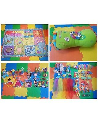 Huge Baby Toy Bundle Lamaze Tiny Love Play Mat Play To Learn Tummy Roll • 35£