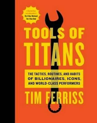 AU45.40 • Buy NEW Tools Of Titans By Timothy Ferriss Hardcover Free Shipping