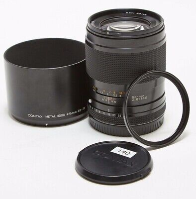 $ CDN505.13 • Buy Contax 645 AF 140mm F/2.8 Lens  Carl Zeiss T* Sonnar W/Zeiss UV Filter Exc Cond!
