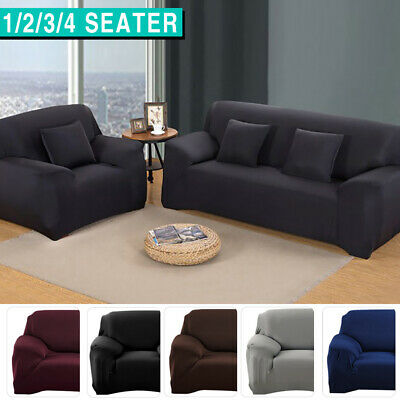 AU19.99 • Buy Sofa Cover Couch Lounge Protector Slipcovers High Stretch Covers 1/2/3/4 Seater