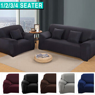 AU16.99 • Buy Sofa Cover Couch Lounge Protector Slipcovers High Stretch Covers 1/2/3/4 Seater