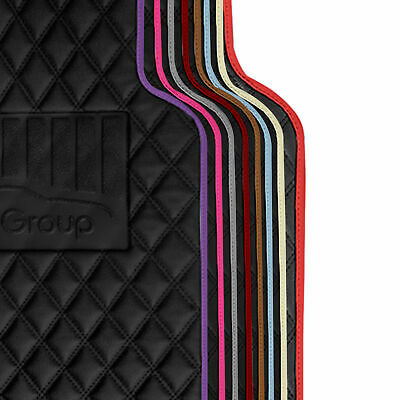 $29.99 • Buy Deluxe Faux Leather Car Floor Mats With Colorful Trim - Full Set - 8 Colors
