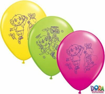 Dora The Explorer Party Balloons Party Supplies Latex Balloon Pack 25 • 9.47£